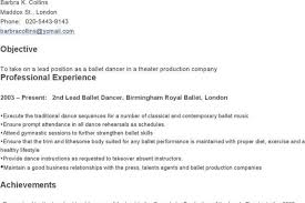 Sample Dance Resume For Audition by Dance Resume Examples Audition Resume Template Beginner Acting