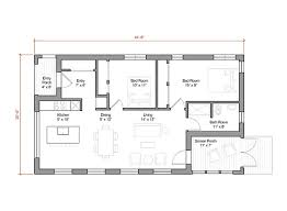 1000 sq ft floor plans 1000 square foot energy efficient prefab house plan by go logic