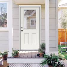 Exterior Door Frames Home Depot Null 32 In X 80 In Primed Right Inswing 9 Lite Clear Steel
