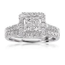 princess cut white gold engagement rings julianna ii princess cut 1 2ctw pavé engagement ring 14k