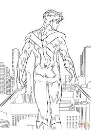 nightwing coloring page free printable coloring pages