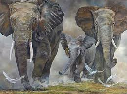 elephants painting by karin snoots