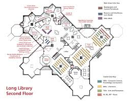 library map and floor plan wells college