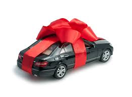 car gift bow black car for a gift with a bow stock photo image of paying