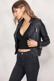 skinnjacka dam moto jacket black