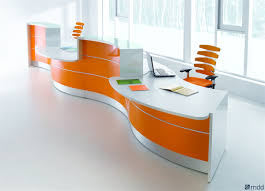 Modern Reception Desk For Sale by Valde Curved Receptionist Desk By Mdd Luxemoderndesign Com