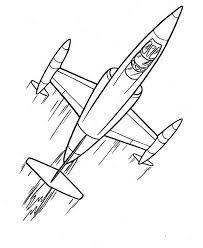 cartoon futuristic jet plane coloring download u0026 print