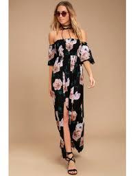 shoptagr primrose princess black floral print off the shoulder