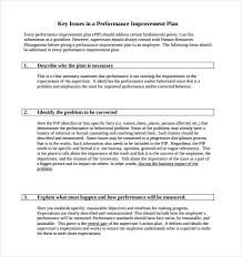 doc 9001165 template for performance improvement plan u2013 40