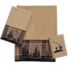 Bathroom Towel Sets by Clearance Rustic Moose Bath Towel Set Cabin Place