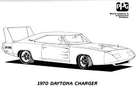 Dodge Challenger Drawing - challenger coloring pages