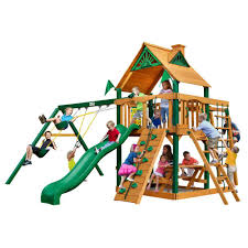 backyard discovery wanderer all cedar playset 54263com the home