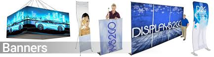 table banners and signs trade show displays supplies booths banners table covers