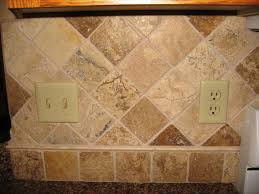 sandstone tile backsplash stone tile backsplash diamond pattern