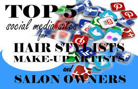 top 5 social media sites for hair stylists make up artists and