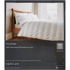double cloud stripe duvet set 200tc bed linen bed u0026 bath