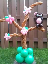 owl balloons owl tree made of balloons decoraciones con globos