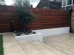 fake archives london garden blog travertine path design wood wall