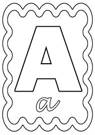 Coloriage Lettre A à colorier ou à gommettes
