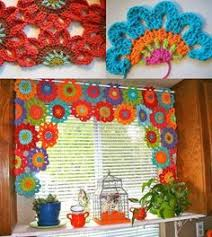 Crochet Kitchen Curtains by Para Mi Cocina Proyectos Que Intentar Pinterest