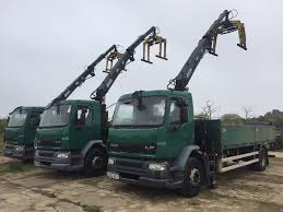 daf lf55 18 ton hiab trucks 2004 hiab dropsides choice of 5 ideal