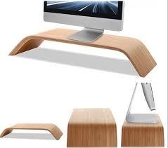 Apple Desk Accessories by Samdi Wooden Monitor Stand Walnut Sgtips