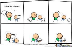 Pillow Fight Meme - pillow fight by matte094 meme center