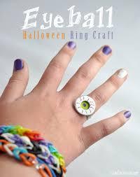 homemade halloween eyeball ring craft idea club chica circle