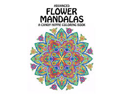 advanced flower mandalas coloring book printable