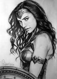 pencil drawing wonder woman by serkanpainter on deviantart