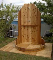 outdoor showers can make you feel cool in the summer barrels
