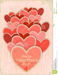 retro valentines retro valentines day card with hearts stock images image 27995024