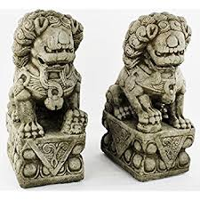 pictures of foo dogs foo dog pair concrete outdoor garden statues garden