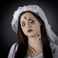 How To Apply Halloween Makeup by Zombie Bride Face Paint Step By Step Poundland