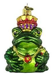 world frog king glass blown ornament