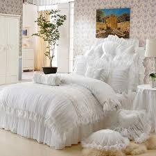 Gorgeous Bedding Gorgeous White Romantic Angel Girls Ruffle Tulle Princess Bedding