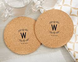coaster favors personalized rustic cork coasters set of 12 my wedding