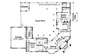 mediterranean house plans with courtyard baby nursery style house plans with courtyard