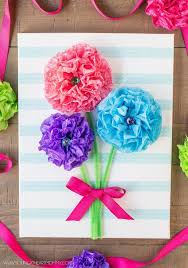 paper flower bouquet tissue paper flower bouquet canvas hometalk