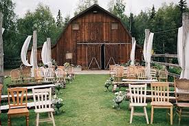 Backyard Rustic Wedding by Top Barn Wedding Venues Alaska U2013 Rustic Weddings