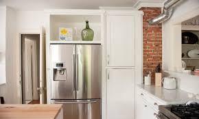 open cabinet above refrigerator best home furniture decoration