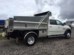 this f550 was outfitted with a rugby stainless steel dump body