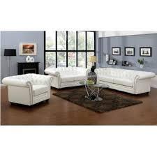 acme united camden white bonded leather 2pcs sofa set tufted sofa