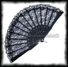 black lace fan burlesque black lace fan accessories