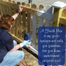 painting a fence or deck with a finish max paint sprayers