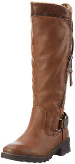 womens tex boots sale marco tozzi s 26601 high boots brown cognac antic 410 shoes