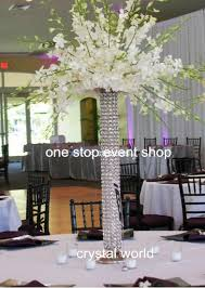Silver Vase Wholesale Transparent Cylinder Glass Vase Tall Flower Decoration Vase For