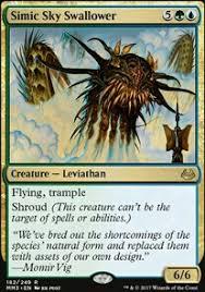 Mtg Card Design Simic Sky Swallower Mtg Card
