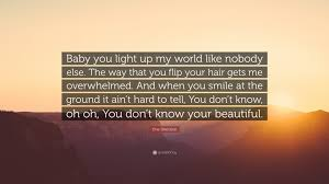 one way light one direction quote baby you light up my world like nobody else