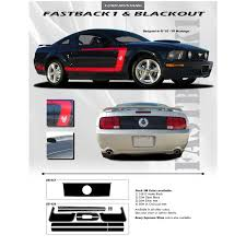 decals for ford mustang mustang decals and stripes 2005 2009 fastback 1 racing stripes 3m